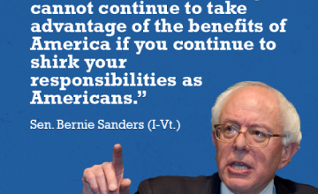 "News Flash: Bernie Sanders To Ban ""1%"" From Returning To America"